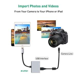 Image 4 - USB OTG Adapter Cable With Charging Interface Converter For iSO 9 To 12 iPad Mini Air Pro iPhone X 8 7 6 5 Plus Male To Female