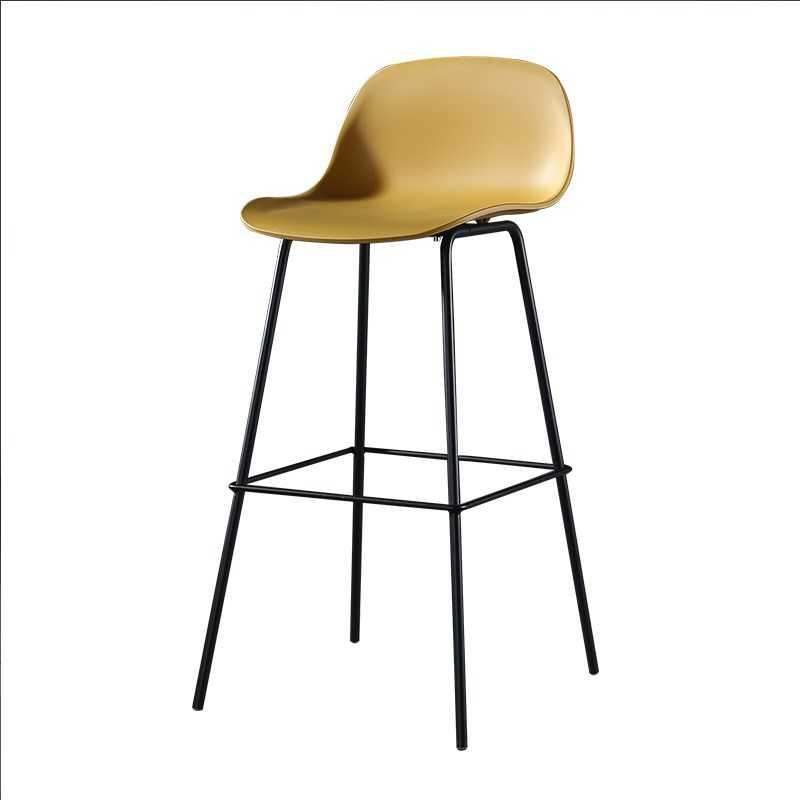 Nordic Bar Chair Backrest Personality   Iron  Stool Simple Modern Home Fashion  High