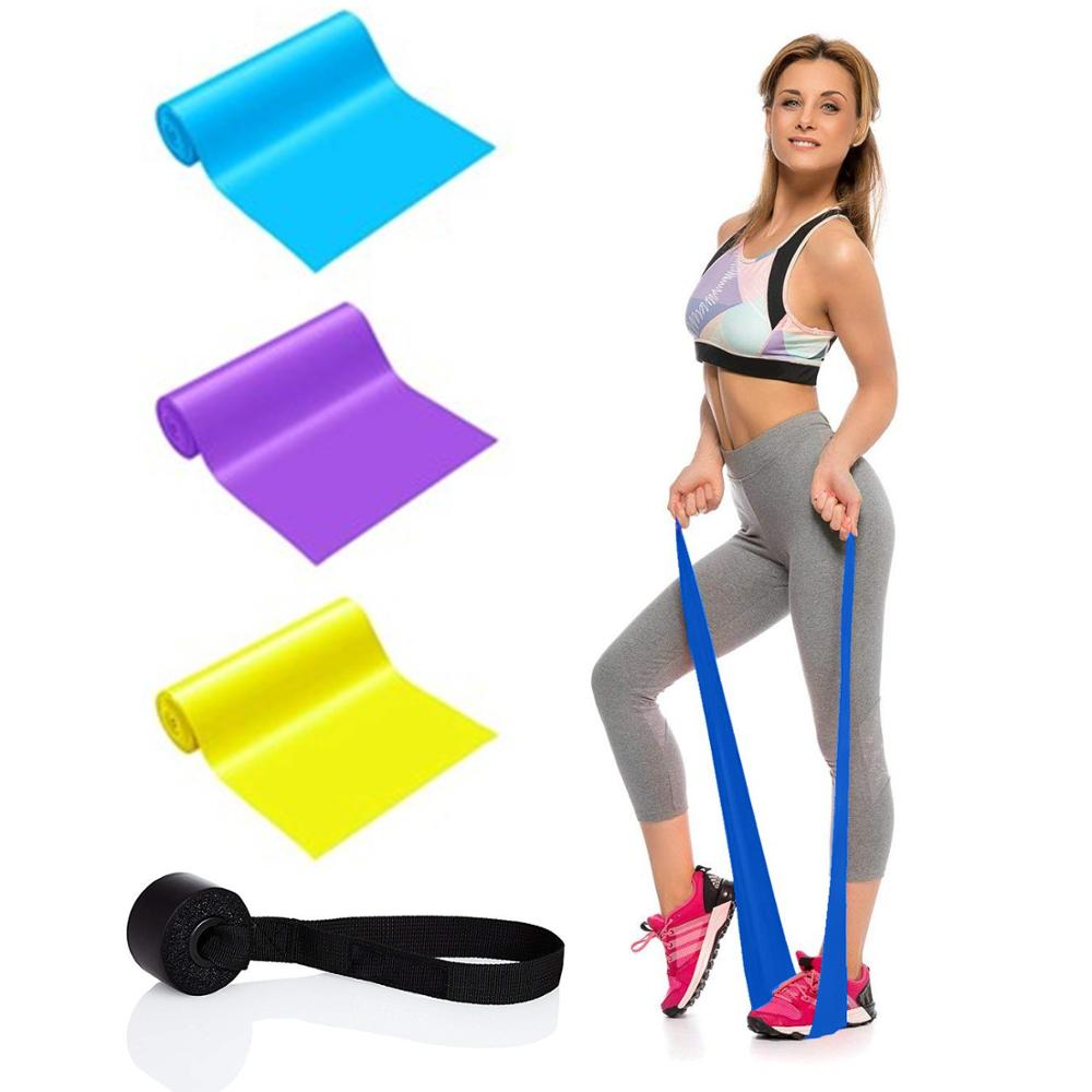 Elastic Bands With 3 Levels Of Resistance Female Tpe Ideal For Yoga Pilates~