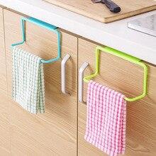 1Pcs Plastic Hanging Holder Towel Rack Multifunction Cupboard Cabinet Door Back Kitchen Accessories Home Storage Organizer