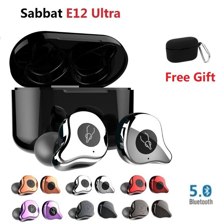 Sabbat E12-auriculares TWS, inalámbricos por Bluetooth 5,0, auriculares de reducción de ruido con funda Máquina de niebla LED-600, control inalámbrico, luz de escenario de Fiesta de DJ de 500W, selección de color RGB, discoteca, Fiesta en casa, máquina de humo