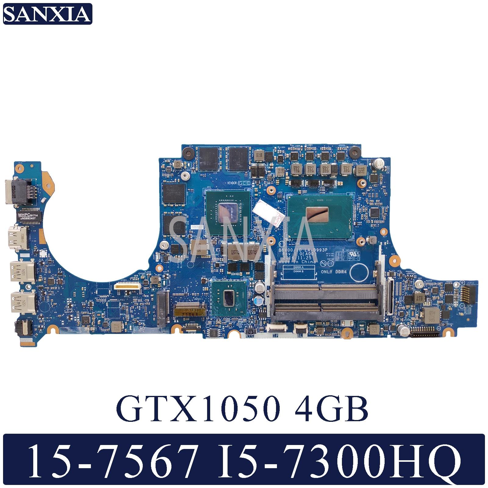 KEFU LA-D993P Laptop Motherboard For Dell Inspiron 15-7567 Original Mainboard I5-7300HQ GTX1050-4GB
