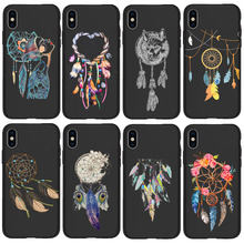 Dreamcatcher Spider-Man for iPhone 11 Pro Cover Xr Xs Max X 6 6S Plus 5 5S SE TPU For iphone 7 plus phone case Black Silicone spider man into the spider verse for funda iphone xs max case cover for case iphone 6s plus 5 5s se 6 7 8 plus xr x cases cover