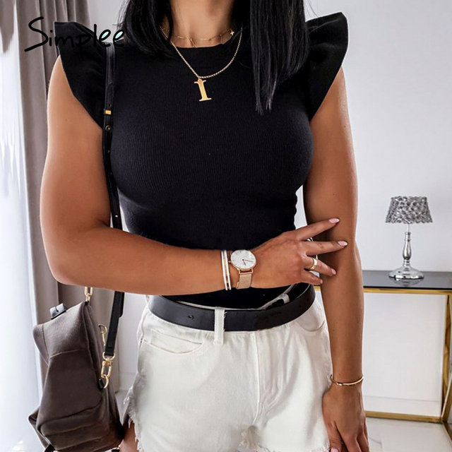 Simplee Casual Solid Top  5