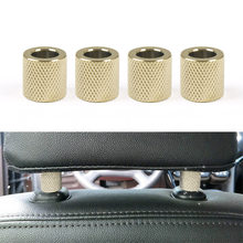 4​Pcs Car Headrest Head Rest Collars Rings Decor Bling Bling Crystal Diamond Ice for Car SUV Truck Interior Decoration