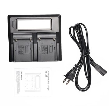 Çift Kanallı LCD Ekran şarj Kamera Pil LCD çifte şarj Makinesi AU Sony NP-F750 Kamera Piller