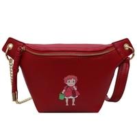 DORANMI Girl Printed Fanny Pack Women's Waist Bags 2019 Fashion Leather Small Chest Bag Crossbody Belt Bags Solid Nerka CBB339