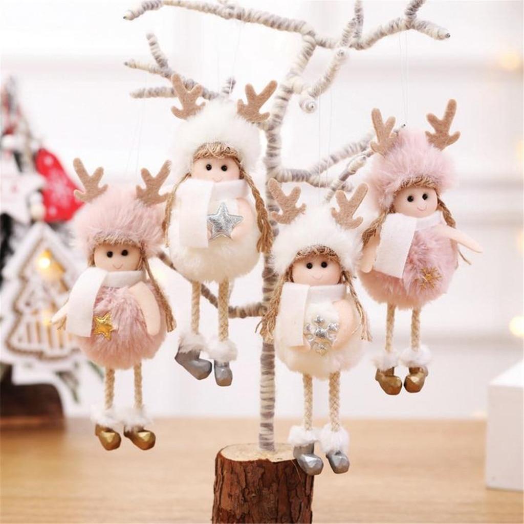 Pendants Home Decor Angel Toy Christmas Decoration Plush Doll Drop Ornaments