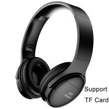 H1 bluetooth fones de ouvido sem fio v5.0 hd alta fidelidade estéreo redução ruído profissional jogos com slot para cartão tf fones de ouvido