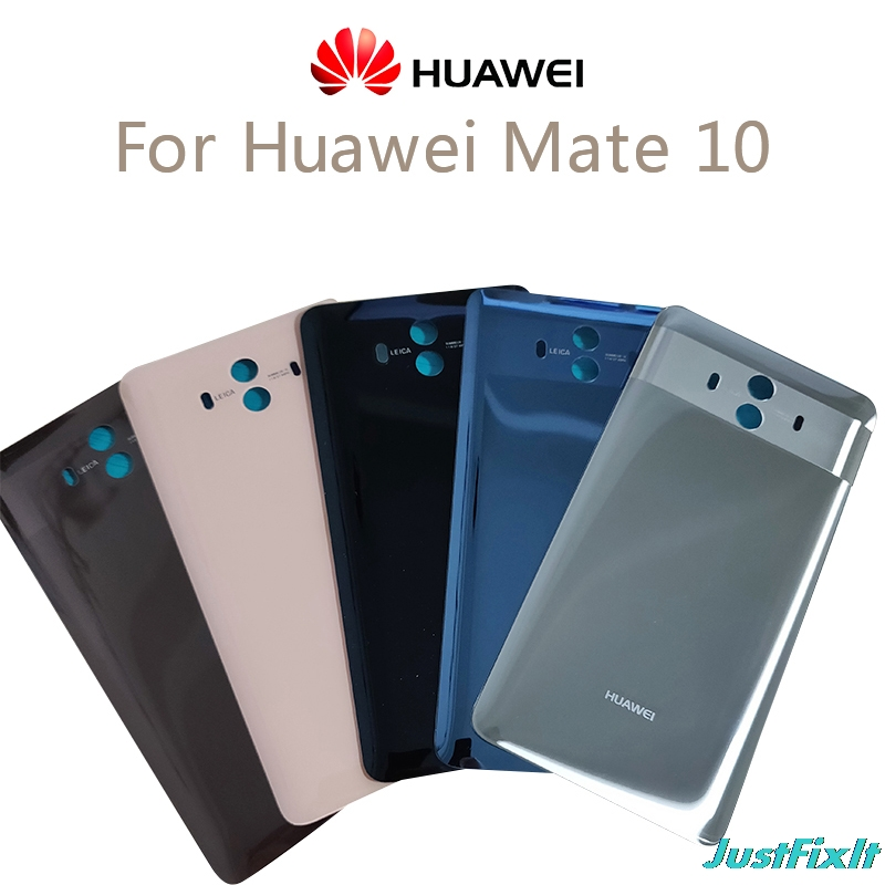 Original For Huawei Mate 10 Back Glass Battery Cover Rear Housing Door Case Mate10 Back Battery Cover Replacement