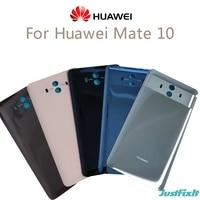 Funda trasera Original para Huawei Mate 10, cubierta de batería de cristal, puerta trasera de la carcasa, repuesto