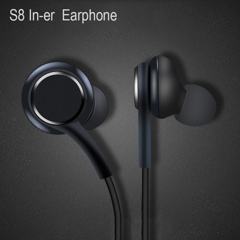 Earphones Black 3 5mm In Ear With Microphone Wire Headset For Samsung Galaxy S8 S9 Smartphone Headphone Akg Phone Earphones Headphones Aliexpress