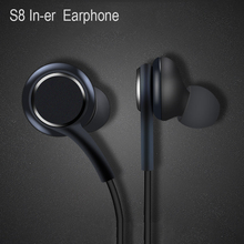 Earphones Black 3.5mm In ear with Microphone Wire Headset for Samsung Galaxy S8 s9 Smartphone headphone AKG