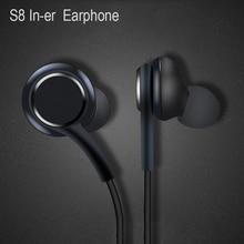 Fones de ouvido preto 3.5mm in ear com microfone fio fone de ouvido para samsung galaxy s8 s9 smartphone fone de ouvido akg