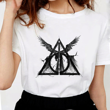New Fashion Three Brothers Tale Deathly Hallows Female T-shirt Funny T-shirts for Women Soft Cotton Casual White T shirt Tops