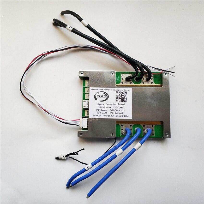 4S 12V 60A 80A 100A 120A smart lifepo4 bms with UART communication port and bluetooth module