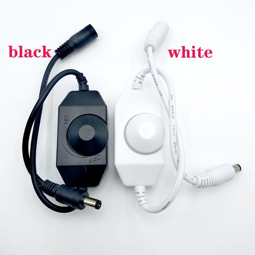 Torsional type LED Dimmer Switch Brightness Adjust Controller for 3528 5050 5730 5630 Single Color Strip Light DC 12V 24V
