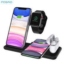 Wireless-Charger Quick-Charging-Dock Apple Watch iPhone 12 2-Airpods Samsung S20 S10