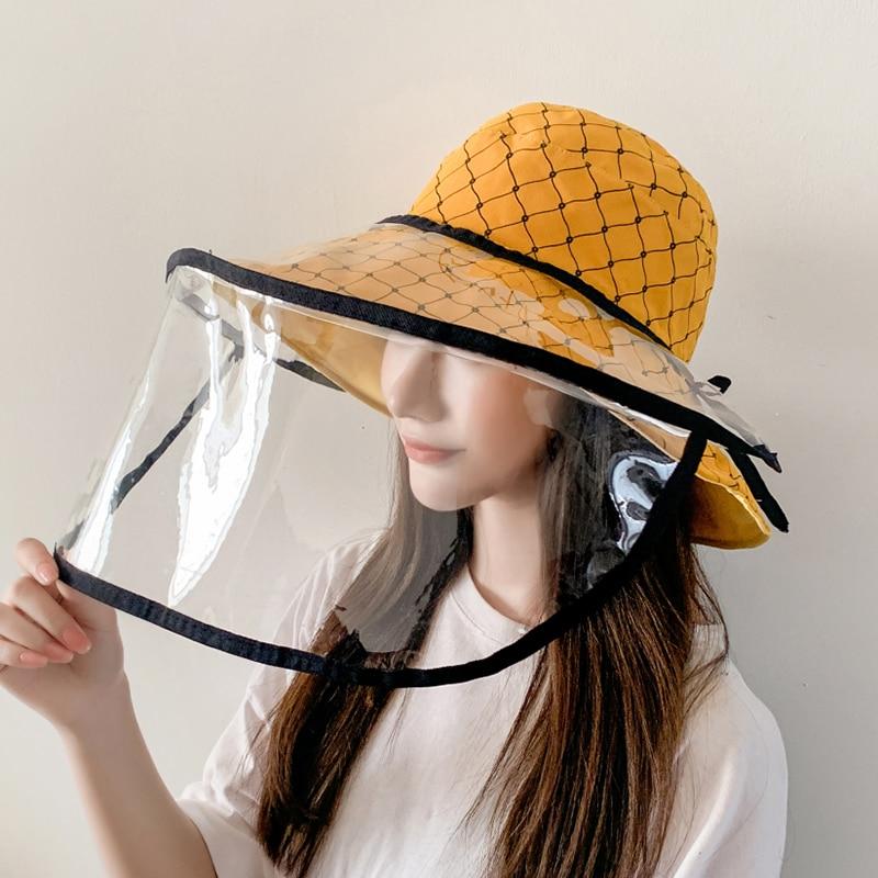 2020 New Hat Women Korea Anti-Fog Hat Epidemic Protective Cap New Anti-Saliva Men And Women Basin Cap Out Fisherman Bucket Hat