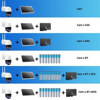 Tuya IP Camera PTZ 1080P HD Starlight Night Vision Outdoor Solar Battery Powered Wireless WIFI Camera Security Surveillance 6