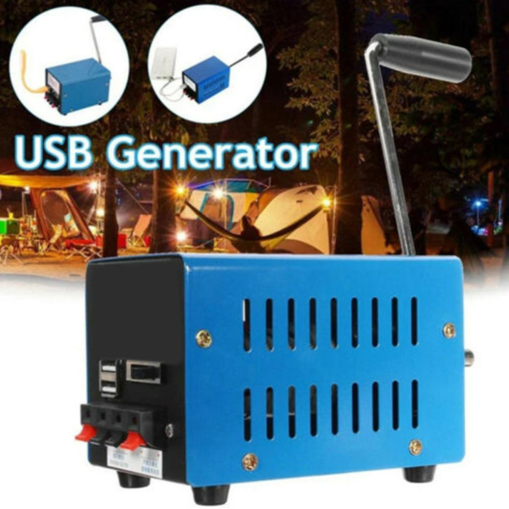 Outdoor Portable Hand Crank Generator High Power Usb Mobile Phone Computer Charging Diy Multi-interface Non-slip Generator