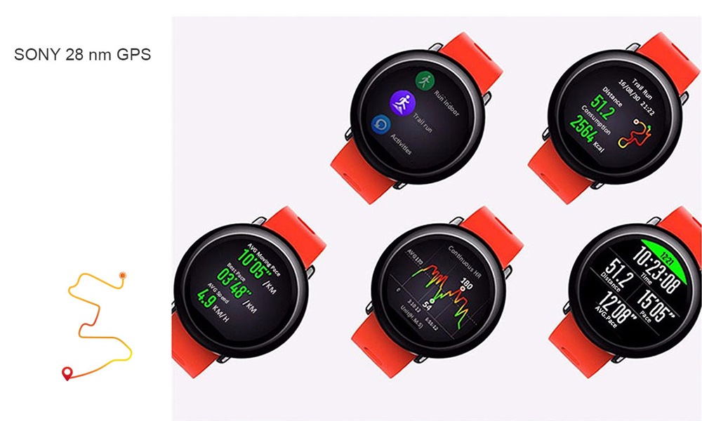 HUAMI AMAZFIT PACE SMART WATCH GPS SMARTWATCH  WEARABLE DEVICES SMART WATCHES ELECTRONICS FOR XIAOMI PHONE IOS 14