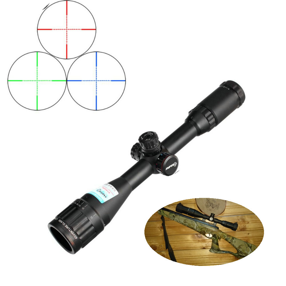 SNIPER LT 3-9X40AOL 1 Inch Full Size Tactical Optical Sight Illuminate Mil-Dot RifleScope Locking Resetting Hunting Rifle Scope