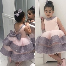 0-24 monate Baby Mädchen Kleid Für Neugeborenen 1st 2 Jahr Geburtstag Elegante Prinzessin Tutu Taufe Kleid Infant Pailletten hochzeit Kleidung
