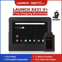 Launch X431 V+ Professional Car Diagnostic Tool Tablet All System Scanner ECU Coding 11 Special Functions X431 V Plus