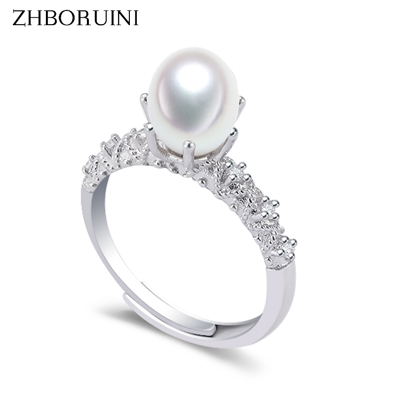 ZHBORUINI 2020 Pearl Ring 925 Sterling Silver Natural Freshwater Pearl Retro Good Quality Ring Jewelry For Women Drop Shipping