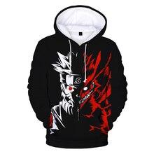 Naruto Hoodie Sweatshirts Kakashi Anime Cosplay Costume Pullover Men 3d-Printed Women