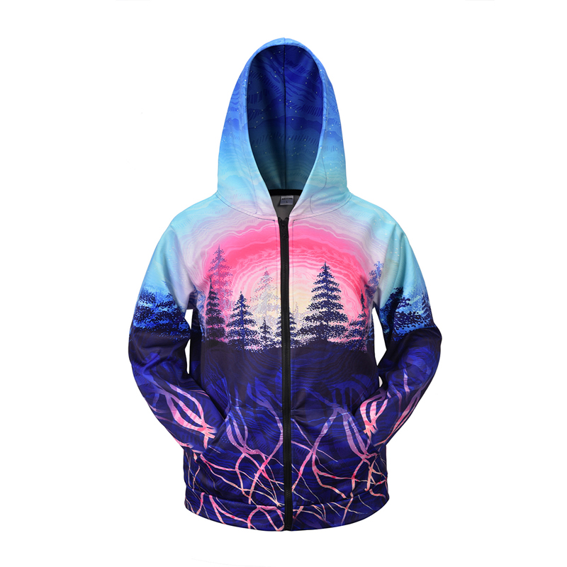 Streetwear Tracksuit Mens Funny 3D Landscape Print Hooded Hoodies Jacket Men Cardigan Sweatshirts Hip Hop Oversize INS Fashion in Jackets from Men 39 s Clothing