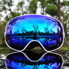 цены на 2019 Brand Ski Goggles Men Women Snowboard Goggles Glasses for Skiing UV400 Protection Snow Skiing Glasses Anti-fog Ski Mask  в интернет-магазинах