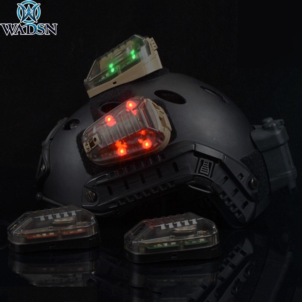 WADSN survie hel-star 6 IR Gen III casque monté indicateur LED lumière stroboscopique vert rouge lumière tactique
