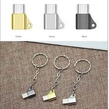 USB C 3,1 type C Мужской к Micro USB Женский конвертер Соединительный брелок для huawei zte xiaomi samsung oneplus Phone