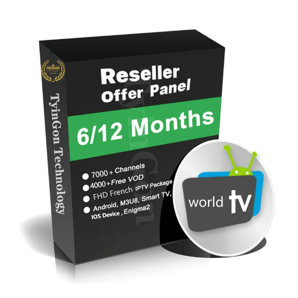 World Iptv Reseller Panel European  TV Support M3u Enigma2 Include 10000 Live+US/UK/ASIA Android X96mini Xxx