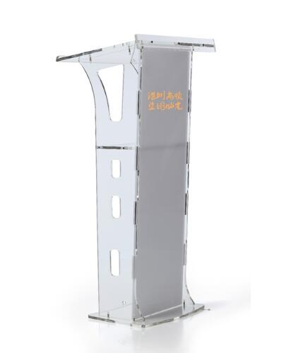 Logo Customize Crystal Podium Acrylic Crystal Transparent Platform Stage Launch Ceremony Hotel Podium Church Pulpit