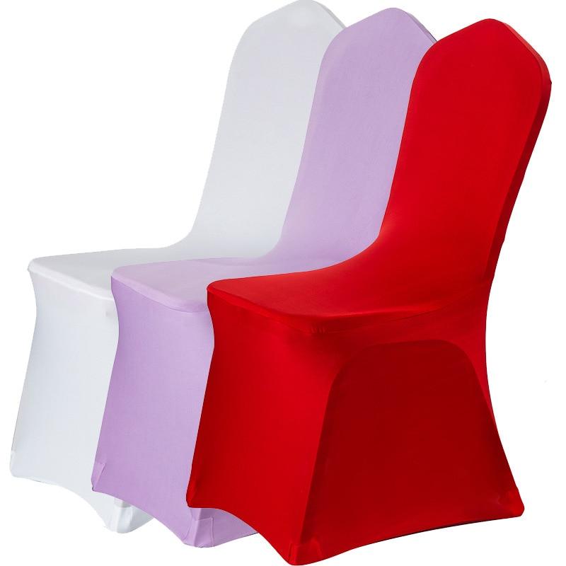 10PCS 50PCS 100PCS Thicken Spandex เก้าอี้ครอบคลุมสำหรับงานแต่งงานจัดเลี้ยงเก้าอี้โรงแรมฝาครอบ housse de chaise mariage-ใน ผ้าคลุมเก้าอี้ จาก บ้านและสวน บน   1