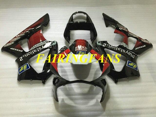 Injection Fairing kit for HONDA CBR900RR 929 00 01 CBR 900 RR CBR 900RR 2000 2001 Red black Fairings bodywork+gifts HE33