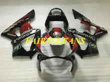 Phun Fairing bộ dành cho XE HONDA CBR900RR 929 00 01 CBR 900 RR CBR 900RR 2000 2001 Đỏ đen Fairings thân xe + Quà Tặng HE33