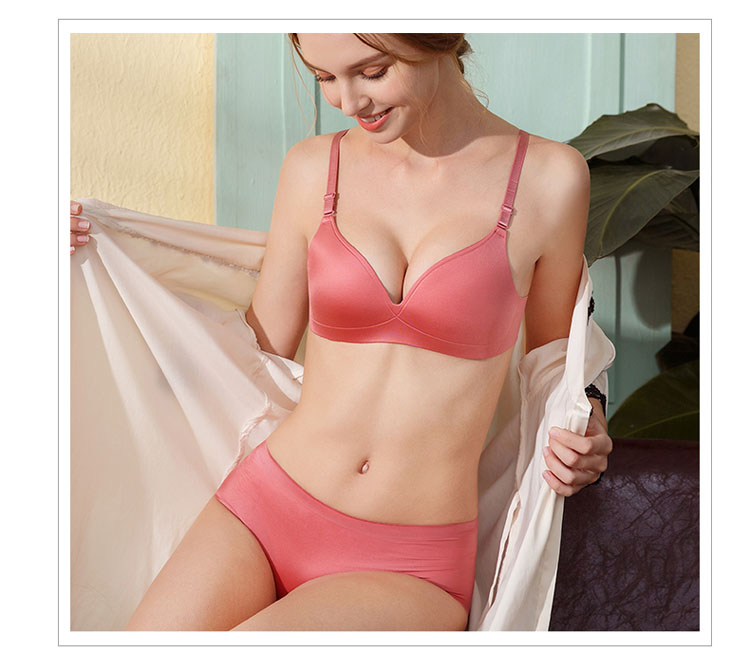 CINOON Sexy Gather Bras For Women Push Up Lingerie Seamless Bra Bralette Wireless Brassiere Female Underwear Intimates (26)