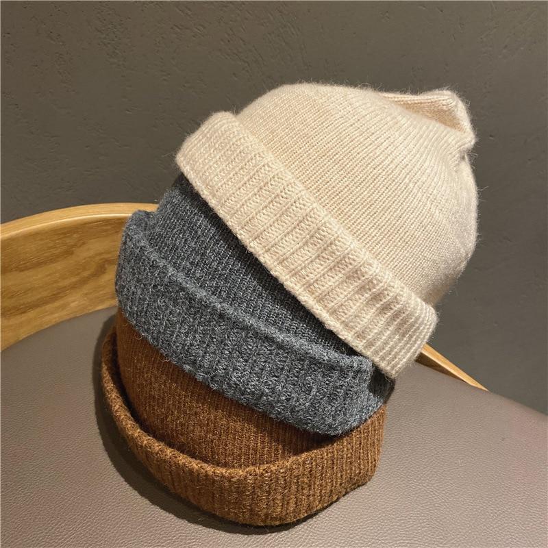 Купить вязаная шапка бини для мужчин и женщин уличная модная в стиле