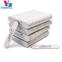 Minilima de madera para uñas, herramienta profesional de lijado y pedicura, lavable, bloque de amortiguación, 200, 180, 240 Uds.