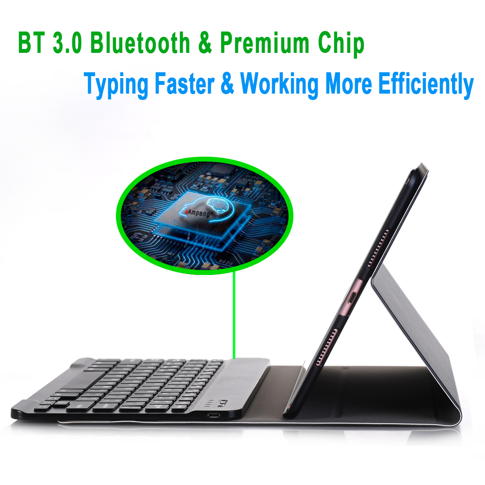for Bluetooth iPad 3.0 A2198 iPad Case A2200 Apple Case Keyboard for 7th Generation 10.2