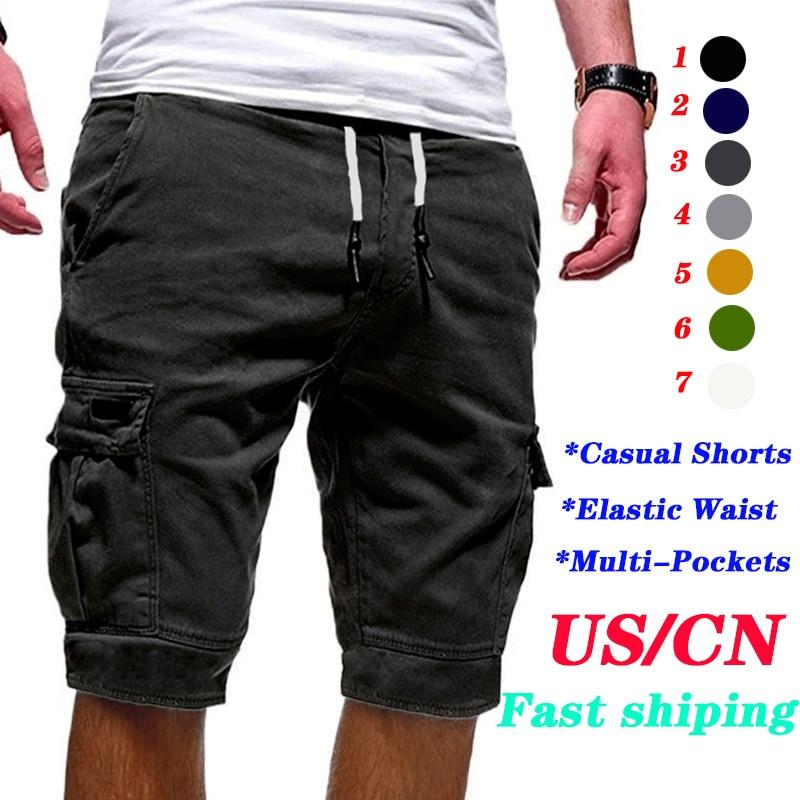 Hot-Selling Men's Shorts Fitness Casual Shorts Men Workout Brand Pants Quality Short Men's Multi-pocket Sports Shorts