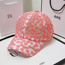 2021 Europe and the United States latest sun hat summer hollow chrysanthemum lace breathable baseball cap small fresh hat female