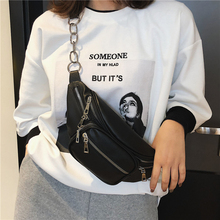 The New waist bag fashion fanny pack black Crossbody Fashion Women Waist Packs Leather Phone Bag Multifunction Crossbodybags