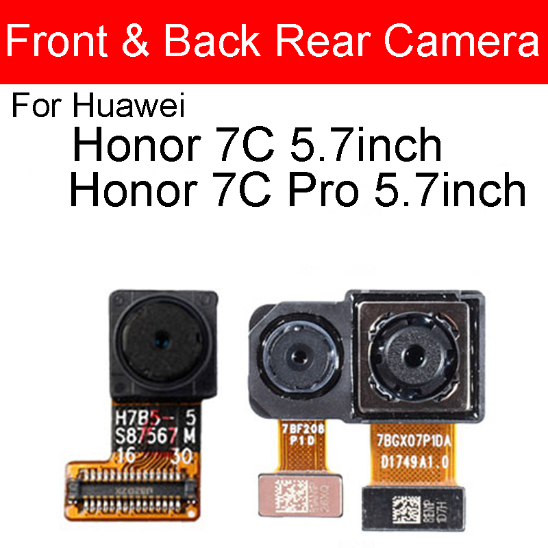 Rear&Front Camera For Huawei Honor 7C Aum-L41 /Honor 7CPro 5.7in Small Back Camera For Honor 7C LND-AL30 7CPro LND-L29 5.99in
