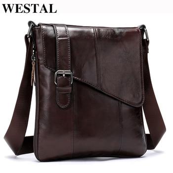 Casual δερμάτινη ανδρική τσάντα