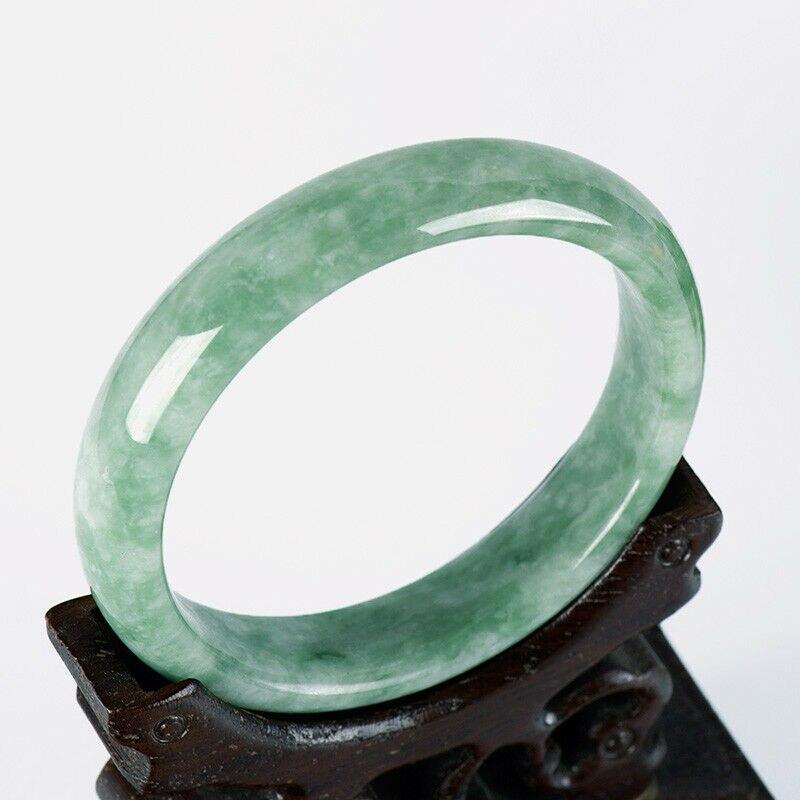 Китайский зеленый нефритовый браслет 52-64 мм, очаровательные ювелирные изделия, модные аксессуары, ручной работы, мужские и женские амулеты на удачу, подарки